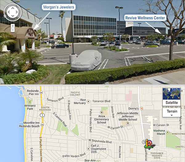 Map to Revive Wellness Center, Torrance, CA