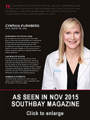 Cynthia Furnberg, NP featured in Southbay Magazine November, 2015